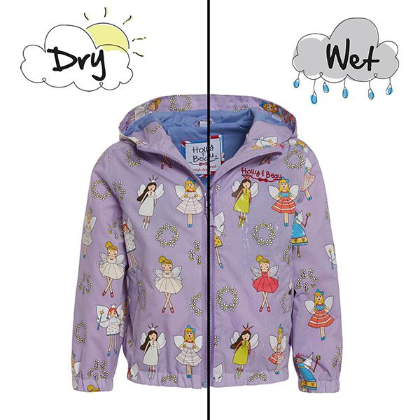 英國變色雨衣(紫色仙女) 英國Holly and Beau,神奇變色雨衣,防風防水,外套