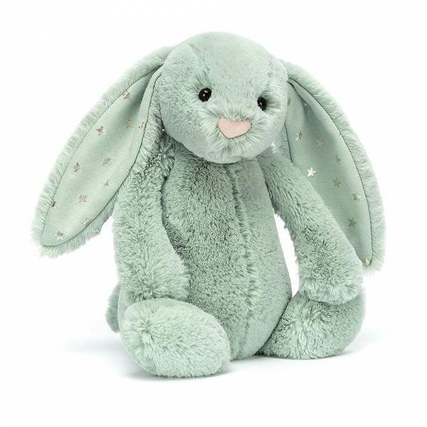 Bashful Sparklet Bunny 閃亮綠星星兔(31cm) jellycat,Bashful Bunny,兔子,英國絨毛玩偶,送禮推薦,媽媽必敗,好萊塢明星,寶寶第一個好朋友