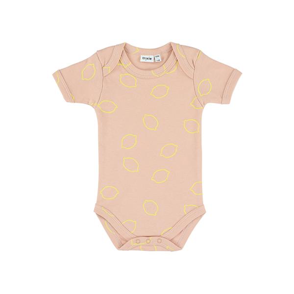 有機棉短袖包屁衣-甜心檸檬 比利時trixie,有機棉,包屁衣,吸汗透氣,歐洲製造