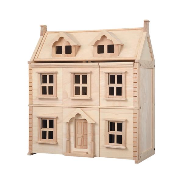 典藏娃娃屋-維多利亞三層歐式豪墅 泰國,天然橡膠木,木製娃娃屋,大型玩具,扮家家酒