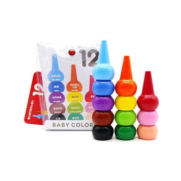 Baby Color 兒童安全蠟筆-繽紛歡樂世界(12色)