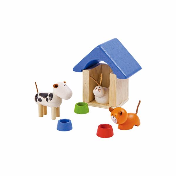 典藏娃娃屋-可愛寵物 泰國,天然橡膠木,木製娃娃屋家具,扮家家酒