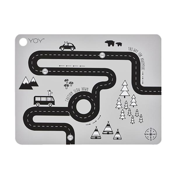 矩形矽膠餐墊-冒險玩家 OYOY,丹麥家居,冒險玩家,矽膠餐墊,餐桌美學,家飾品,易清洗