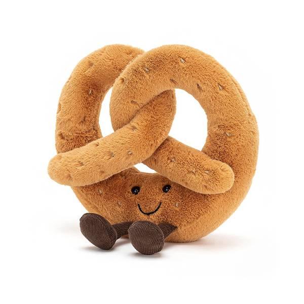 Amuseable Pretzel 椒鹽脆餅(18cm) jellycat,Amuseable系列,椒鹽脆餅,英國絨毛玩偶,送禮推薦,媽媽必敗,好萊塢明星,寶寶第一個好朋友
