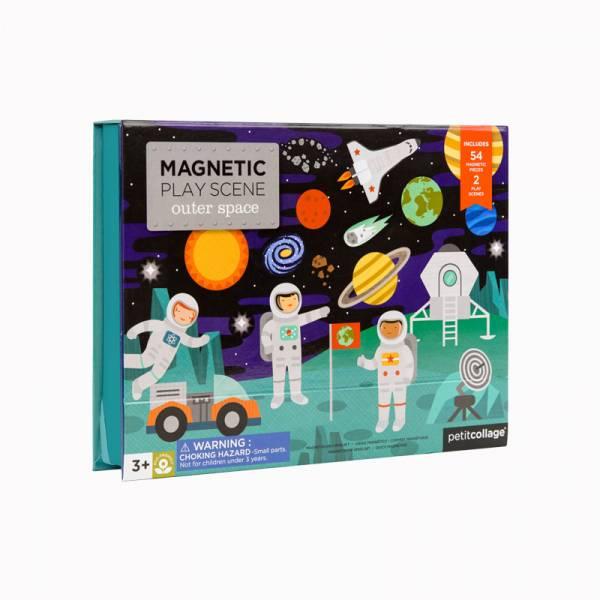 磁鐵場景遊戲盒-太空冒險 美國Petit Collage,磁鐵,創造力,想像力,手眼協調