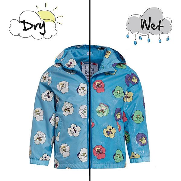 英國變色雨衣(紫羅蘭花)