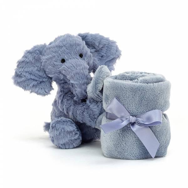 Fuddlewuddle Elephant Soother 毛茸茸大象安撫巾 jellycat,寶寶的第一個禮物,寶寶的第一條安撫巾,送禮推薦,媽媽必敗,安撫神器,五感刺激