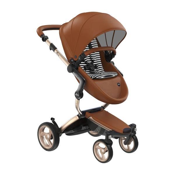 xari 頂級嬰兒推車-經典駝(車架:流光金/晶礦灰) 西班牙mima,xari頂級嬰兒推車,戰車型推車,環保皮革面料,2in1內置提籃,氣壓式踏板煞車