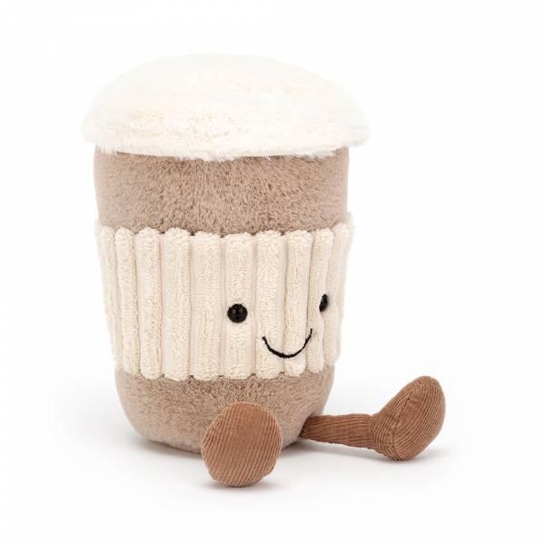 Amuseable Coffee-To-Go 拿鐵(15cm) jellycat,Amuseable系列,拿鐵,英國絨毛玩偶,送禮推薦,媽媽必敗,好萊塢明星,寶寶第一個好朋友