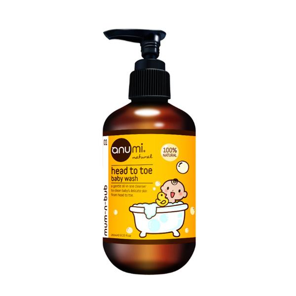 天然植萃寶寶洗髮沐浴精 澳洲anumi,天然植萃,洗髮沐浴精,低敏,不流淚配方