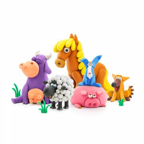 智塑輕黏土-可愛動物組 美國Hey Clay,輕黏土,親子手作,app教學,不掉屑,安全無毒
