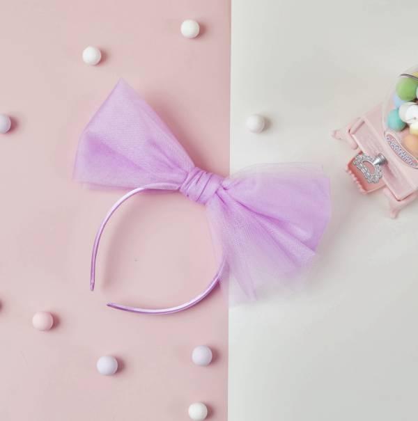 Soda n' Cream甜美紗紗皇冠-粉紫