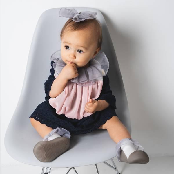 期間限定 可愛造型圍兜髮夾組(莎拉公主灰) 圍兜,口水巾,純棉,日本製,造型,送禮自用