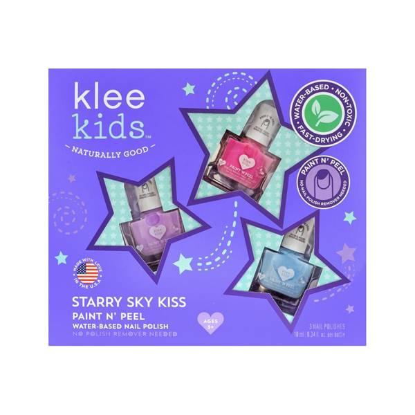 Klee Kids 可麗女孩指彩組-閃亮星空 美國Klee Kids,水性指甲油,兒童指甲油,快乾無味,可剝除