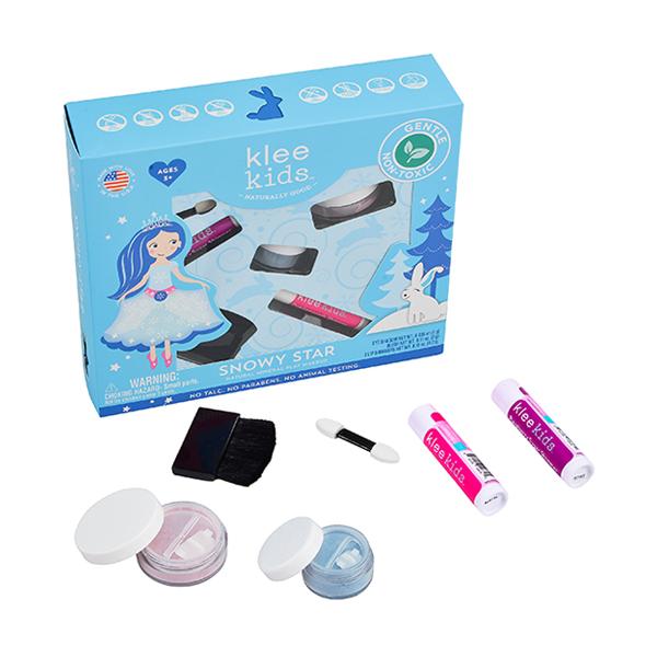 Klee Kids 冰雪明星彩妝組 美國Klee Kids,彩妝組,兒童彩妝,礦物彩妝,溫水即可卸妝
