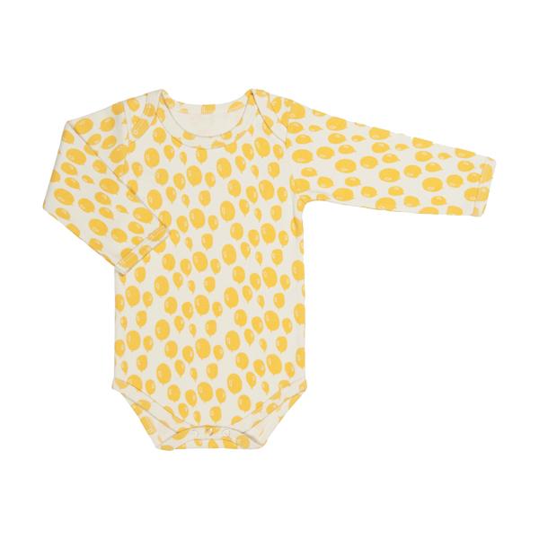 有機棉長袖包屁衣-檸檬氣球 比利時trixie,有機棉,包屁衣,吸汗透氣,歐洲製造