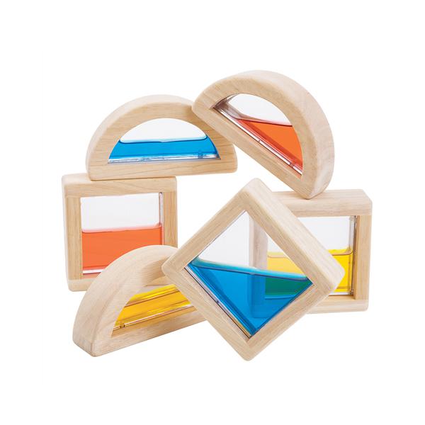 玩色水魔方積木  泰國,天然橡膠木,積木,變色