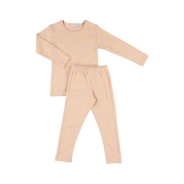 有機棉長袖家居服-甜心檸檬 比利時trixie,有機棉,家居服,吸汗透氣,歐洲製造