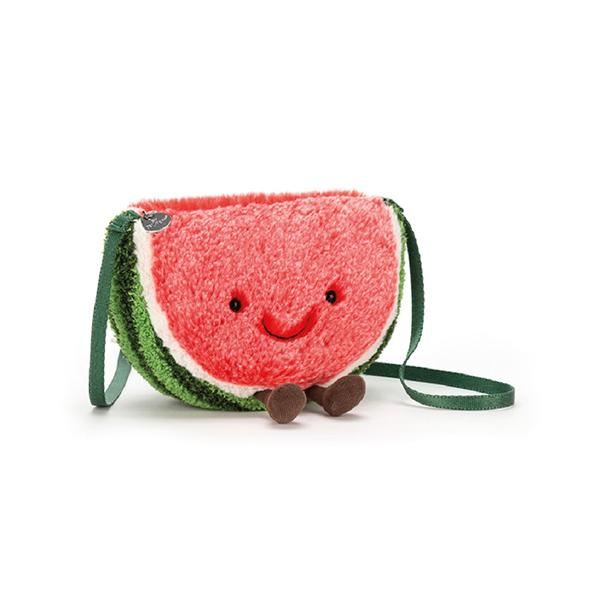 Amuseable Watermelon Bag 西瓜娃娃斜背包 jellycat,Amuseable系列,西瓜,造型斜背包,送禮推薦