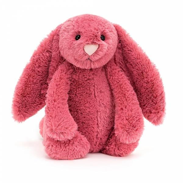 Bashful Cerise Bunny 櫻桃紅兔(31cm) jellycat,Bashful Bunny,兔子,英國絨毛玩偶,送禮推薦,媽媽必敗,好萊塢明星,寶寶第一個好朋友