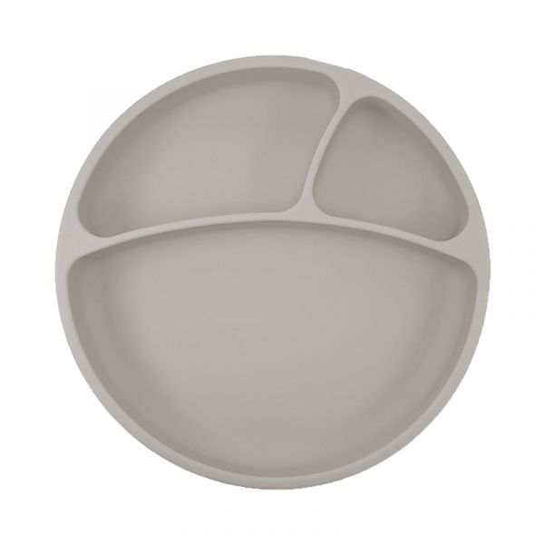 防滑矽膠餐盤-銀河灰 土耳其minikoioi,矽膠餐盤,分隔餐盤,訓練獨立進食,耐熱達200度C,食品級矽膠,嬰幼兒餐具