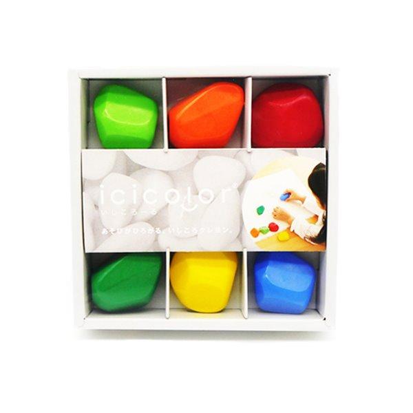 Icicolor 滾滾石兒童安全蠟筆(6色)