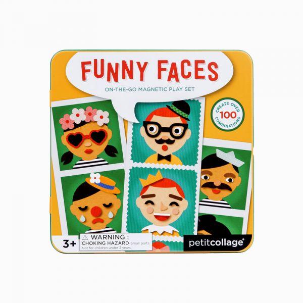 磁鐵遊戲盒-百變的臉 美國Petit Collage,磁鐵,創造力,想像力,手眼協調