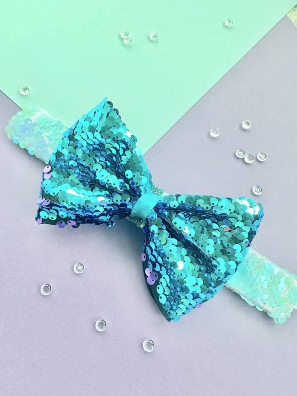 Soda n' Cream拍拍Bow(手環/髮圈/髮夾組)-藍