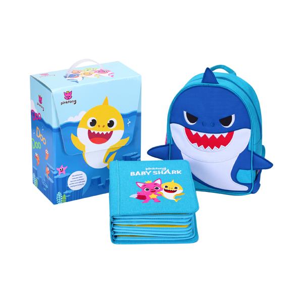 特別冊-Baby Shark鯊魚篇(Daddy Shark藍) My First Book,鯊魚,布書,DIY,啟蒙,撕不爛布書,童書,蒙特梭利,早教