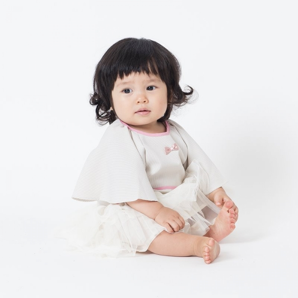 可愛造型圍兜/口水巾(餐桌小淑女米)