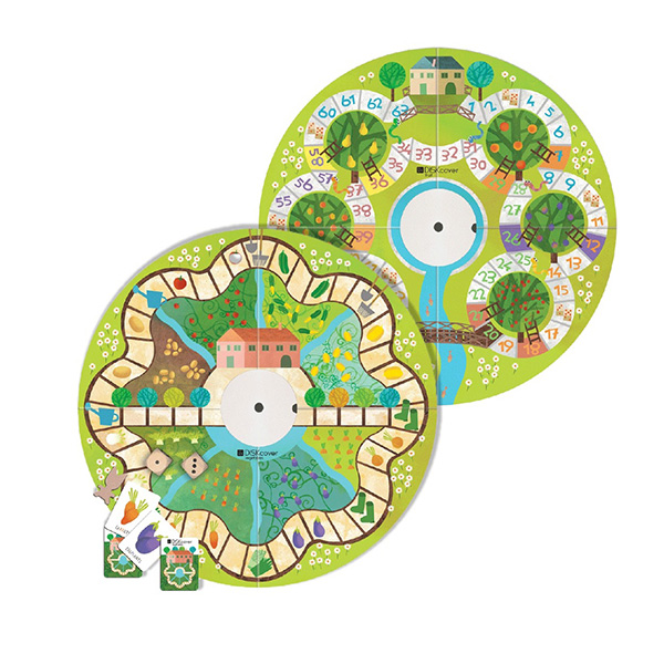 MUtable益智桌遊板-蔬果 義大利MUtable,兒童成長家具,益智桌遊板