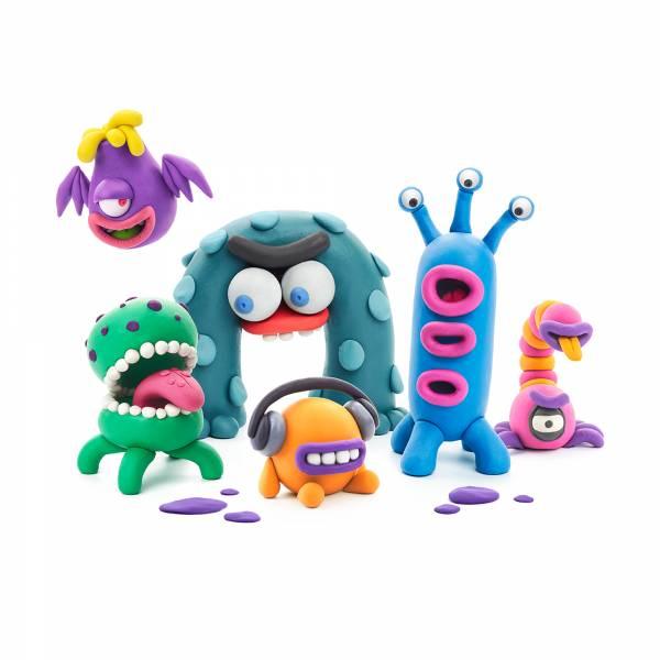 智塑輕黏土-外星寶寶組 美國Hey Clay,輕黏土,親子手作,app教學,不掉屑,安全無毒