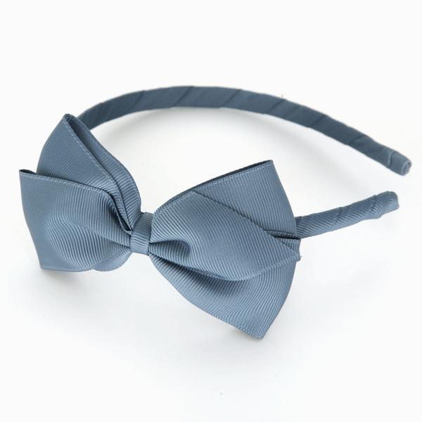 Mon Bonbon經典蝴蝶結髮箍(藍綠色系)