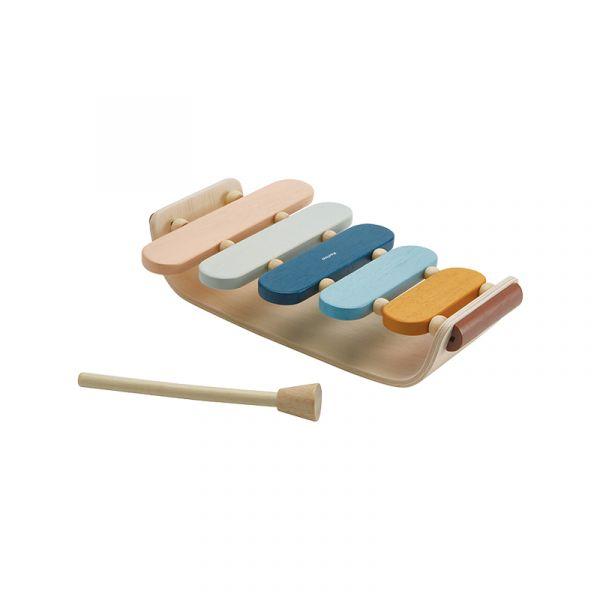 木作兒童樂器-彩虹橢圓木琴(清新藍) 泰國,天然橡膠木,木作兒童樂器,彩虹木琴