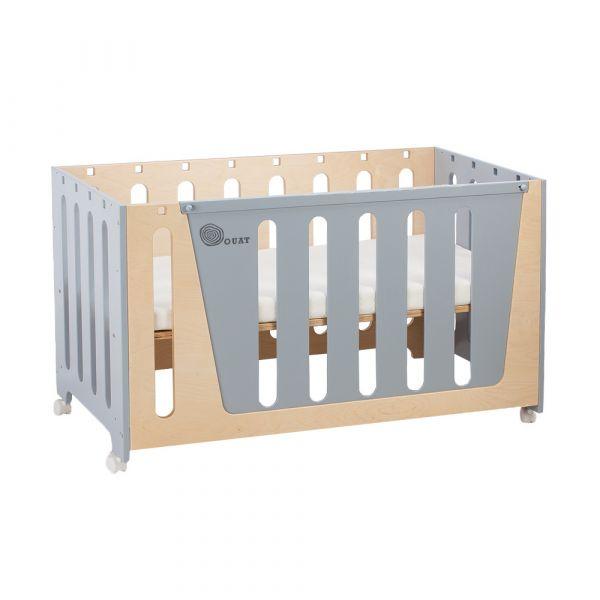 Woodpecker四合一遊戲成長床(灰) OUAT,嬰兒床,幼兒床,遊戲成長床,床邊床,書桌,台灣製