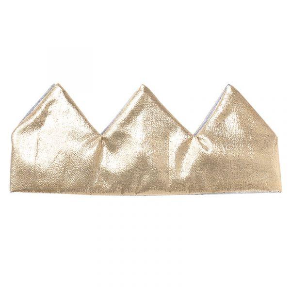 嬰幼兒超可愛雙面皇冠(金銀) 嬰幼兒頭飾,日本製,派對造型,雙面皇冠,布面皇冠,魔鬼氈