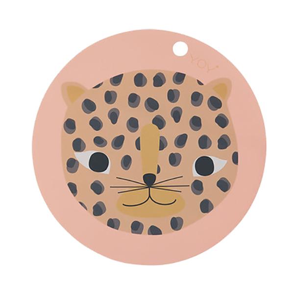 圓形矽膠餐墊-粉紅小豹 OYOY,丹麥家居,粉紅小豹,矽膠餐墊,餐桌美學,家飾品,易清洗