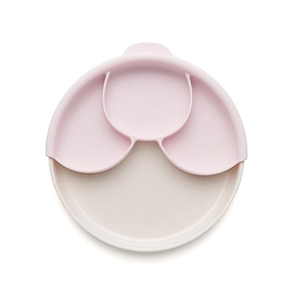 竹纖維兒童學習餐具-分隔餐盤組(牛奶麥片)