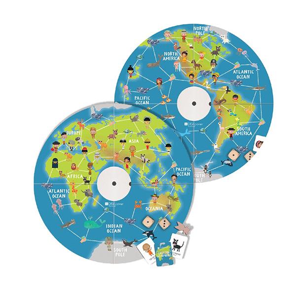MUtable益智桌遊板-地理(附拼圖)