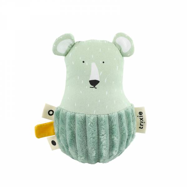 寶寶搖鈴不倒翁-可愛北極熊 比利時trixie,動物不倒翁,嬰幼兒玩具,五感玩具,安撫玩具