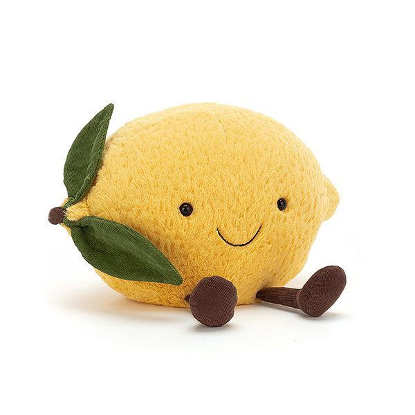 Amuseable Lemon 甜心檸檬(27cm) jellycat,Amuseable系列,甜心檸檬,英國絨毛玩偶,送禮推薦,媽媽必敗,好萊塢明星,寶寶第一個好朋友