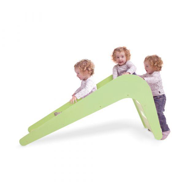 德國頂級木製溜滑梯(粉綠) 德國Jupiduu,德國製,喬治王子,木製溜滑梯,兒童家具