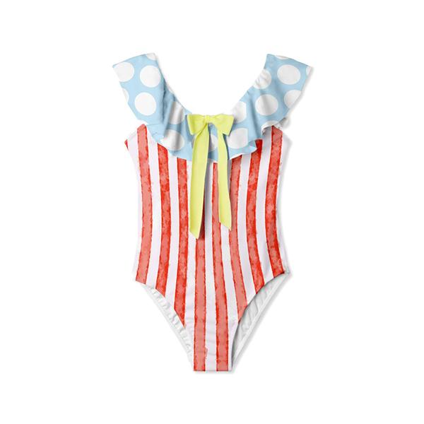 夏日歡暢條紋泳裝
