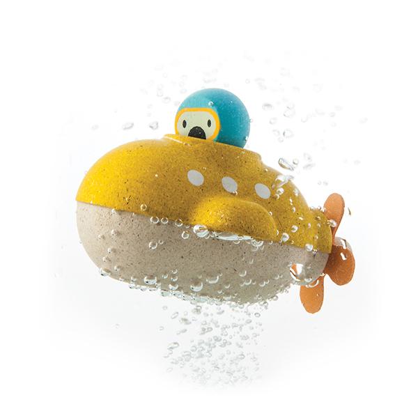 木作水玩具-探索潛水艇 泰國,天然橡膠木,木作水玩具,洗澡玩具