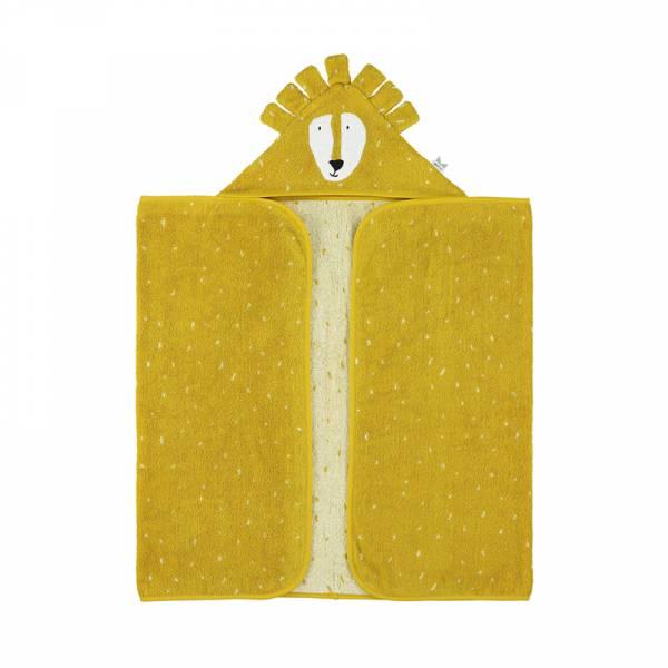 動物造型有機棉連帽浴巾-陽光獅子 比利時trixie,有機棉浴巾,動物造型浴巾,嬰幼兒連帽浴巾,吸水力極佳