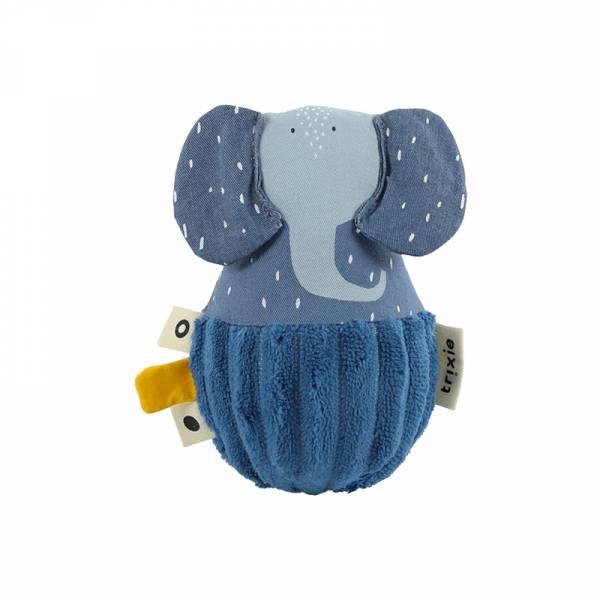 寶寶搖鈴不倒翁-逗趣小象 比利時trixie,動物不倒翁,嬰幼兒玩具,五感玩具,安撫玩具