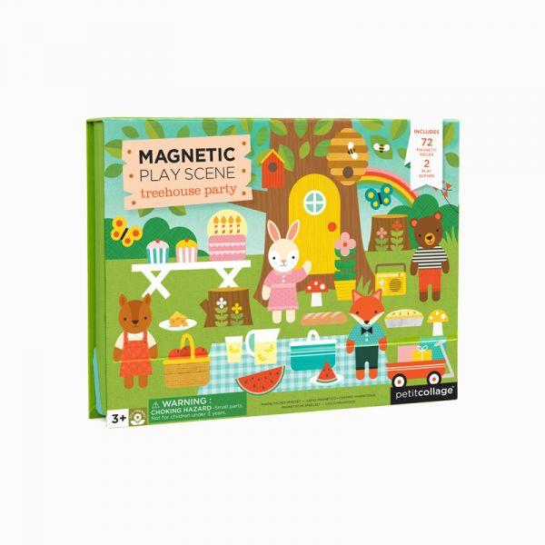 磁鐵場景遊戲盒-歡樂樹屋 美國Petit Collage,磁鐵,創造力,想像力,手眼協調