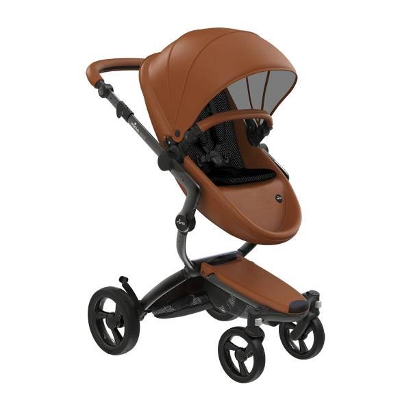 xari 頂級嬰兒推車-經典駝(車架:曜石黑/皓月銀) 西班牙mima,xari頂級嬰兒推車,戰車型推車,環保皮革面料,2in1內置提籃,氣壓式踏板煞車