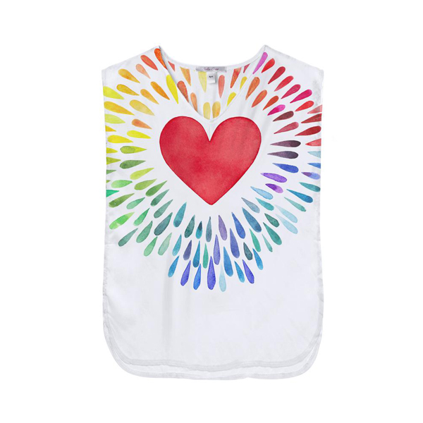 快樂愛心印花罩衫