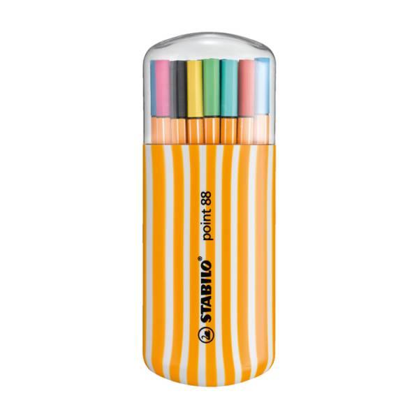STABILO思筆樂 樂點88多用途細緻彩繪筆20色 橢圓塑膠盒